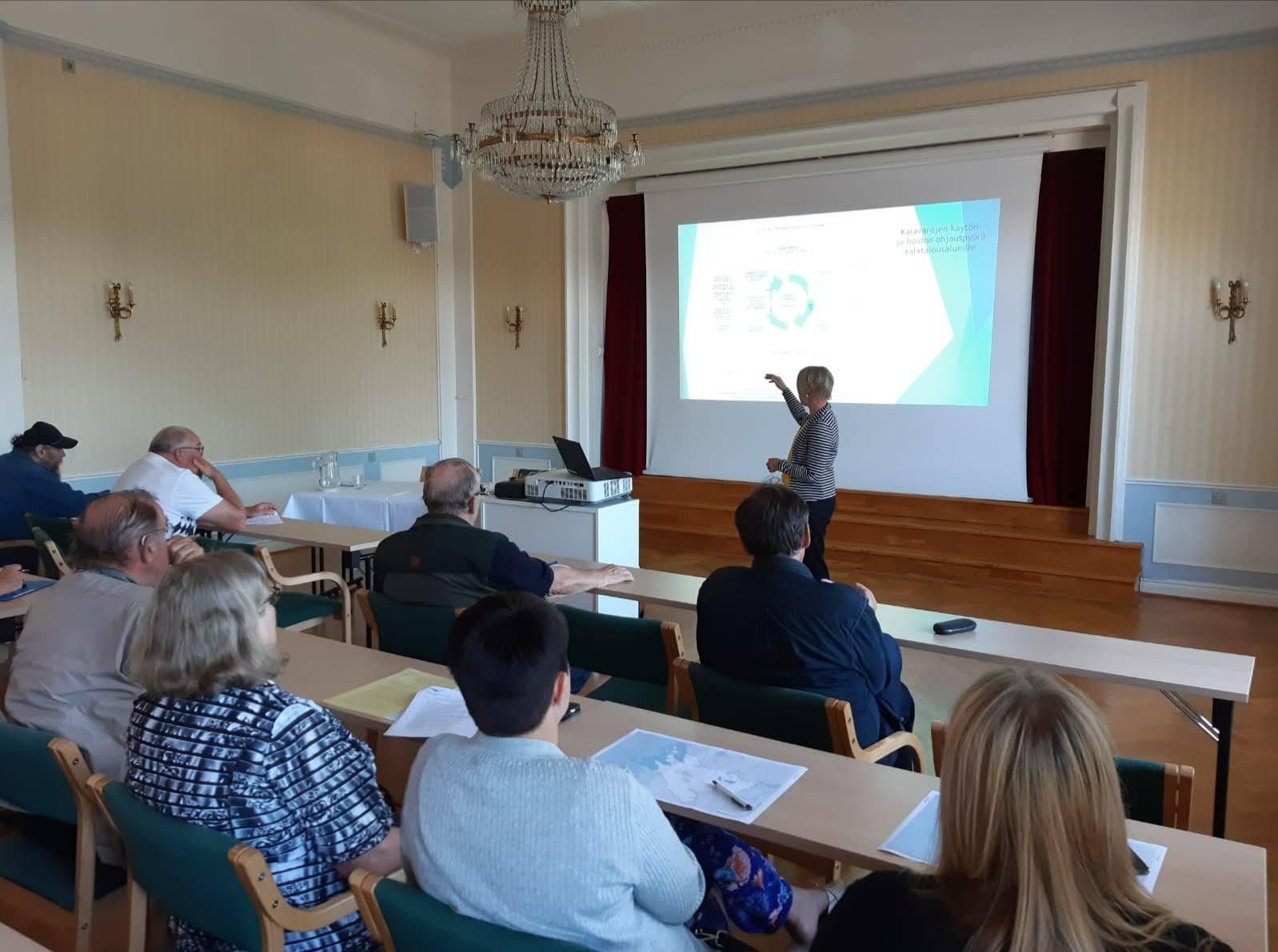 Porin kalatalousalueen kokous pidettiin 11. elokuuta Porissa.