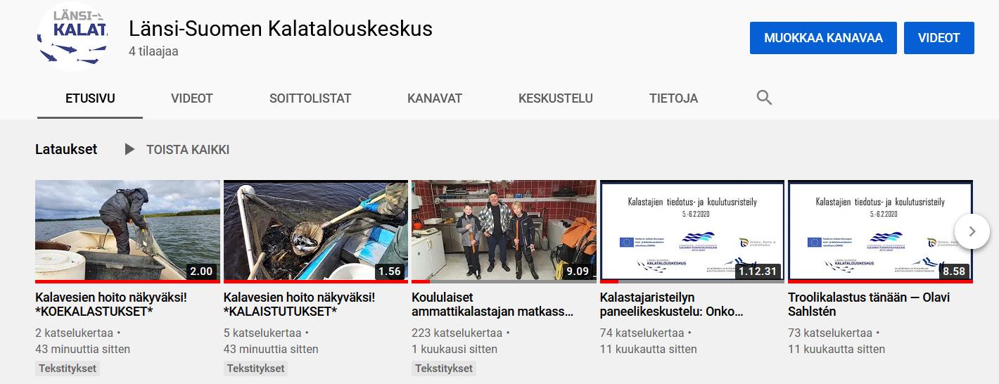 Kalavesien hoito näkyväksi- hankkeen videot nyt Youtubessa!